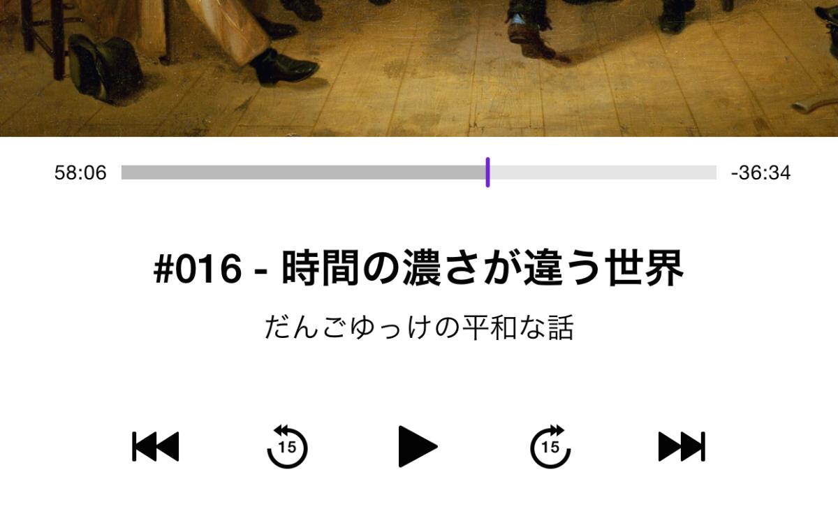 podcastがいい、近頃。